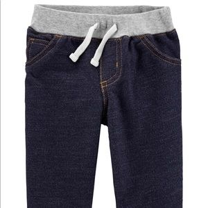Carters NWT 24m Pull-On Knit Denim Pants